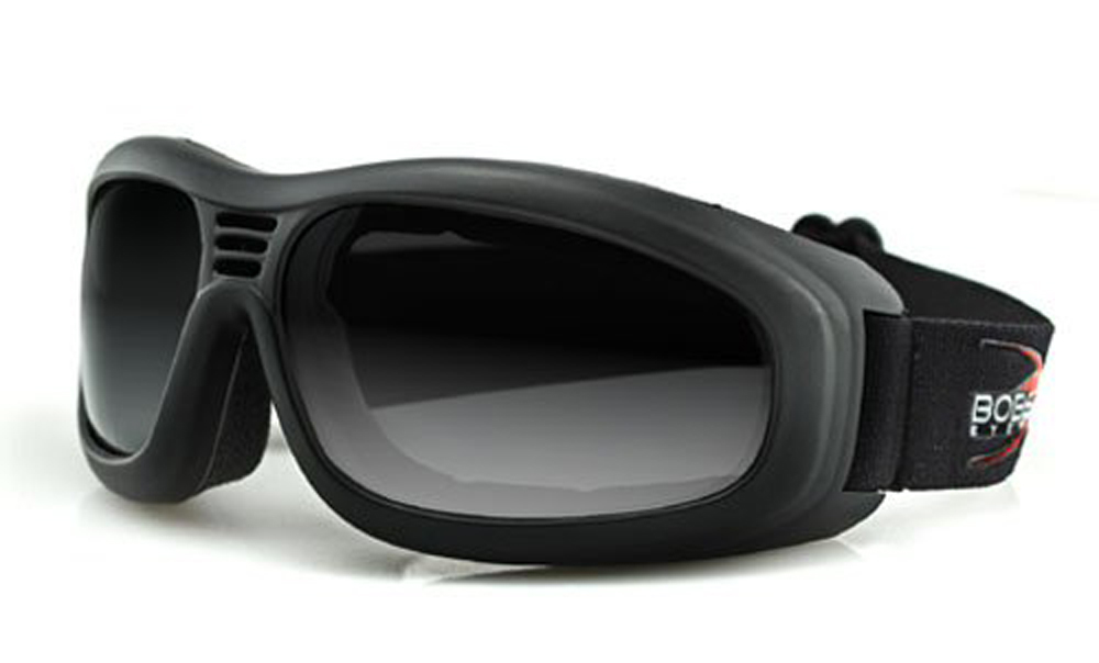 Bobster Touring II Goggles (Black Frame, Anti-fog Smoked Lenses)