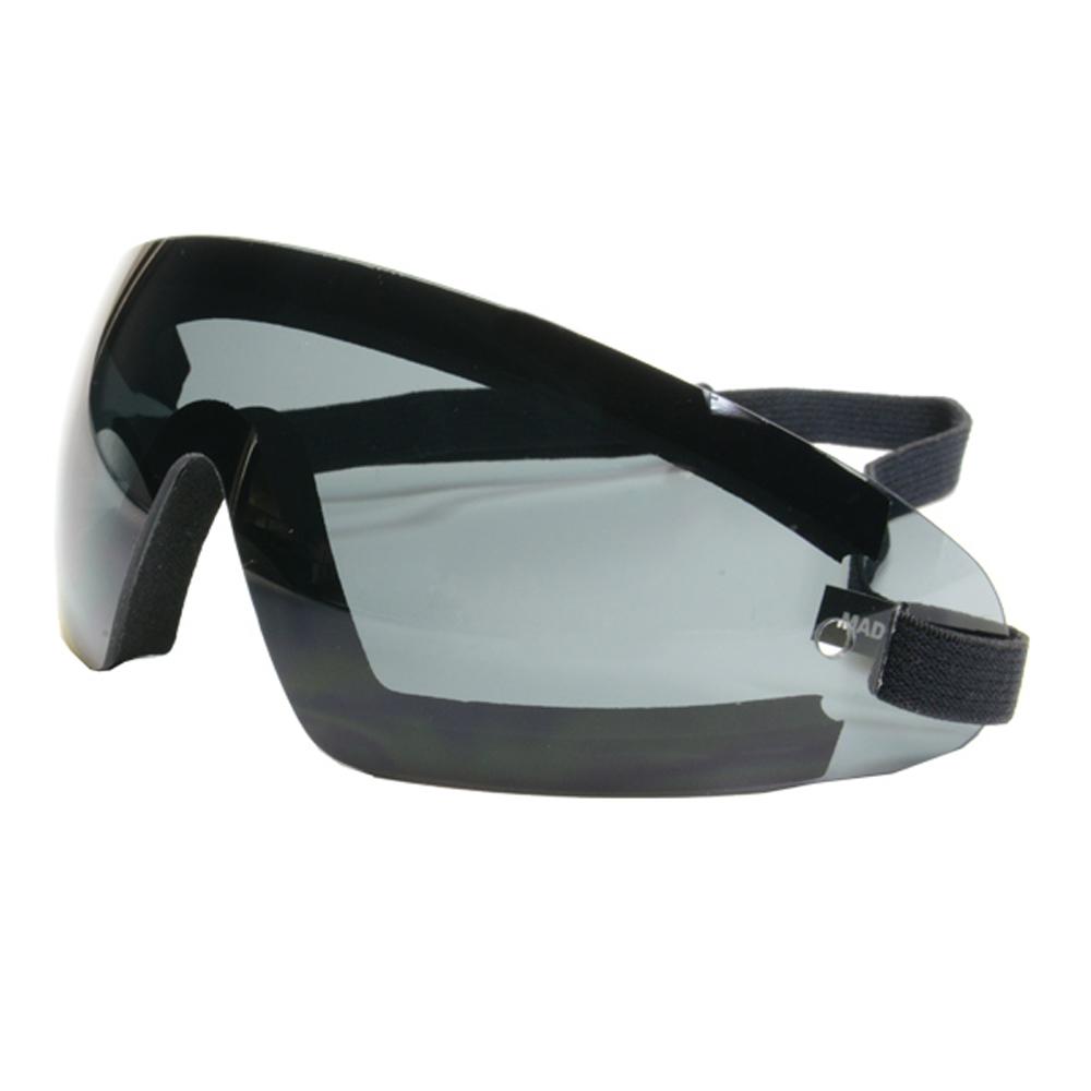 Bobster Wrap Around Goggles (Black Frame, Smoke Lens)