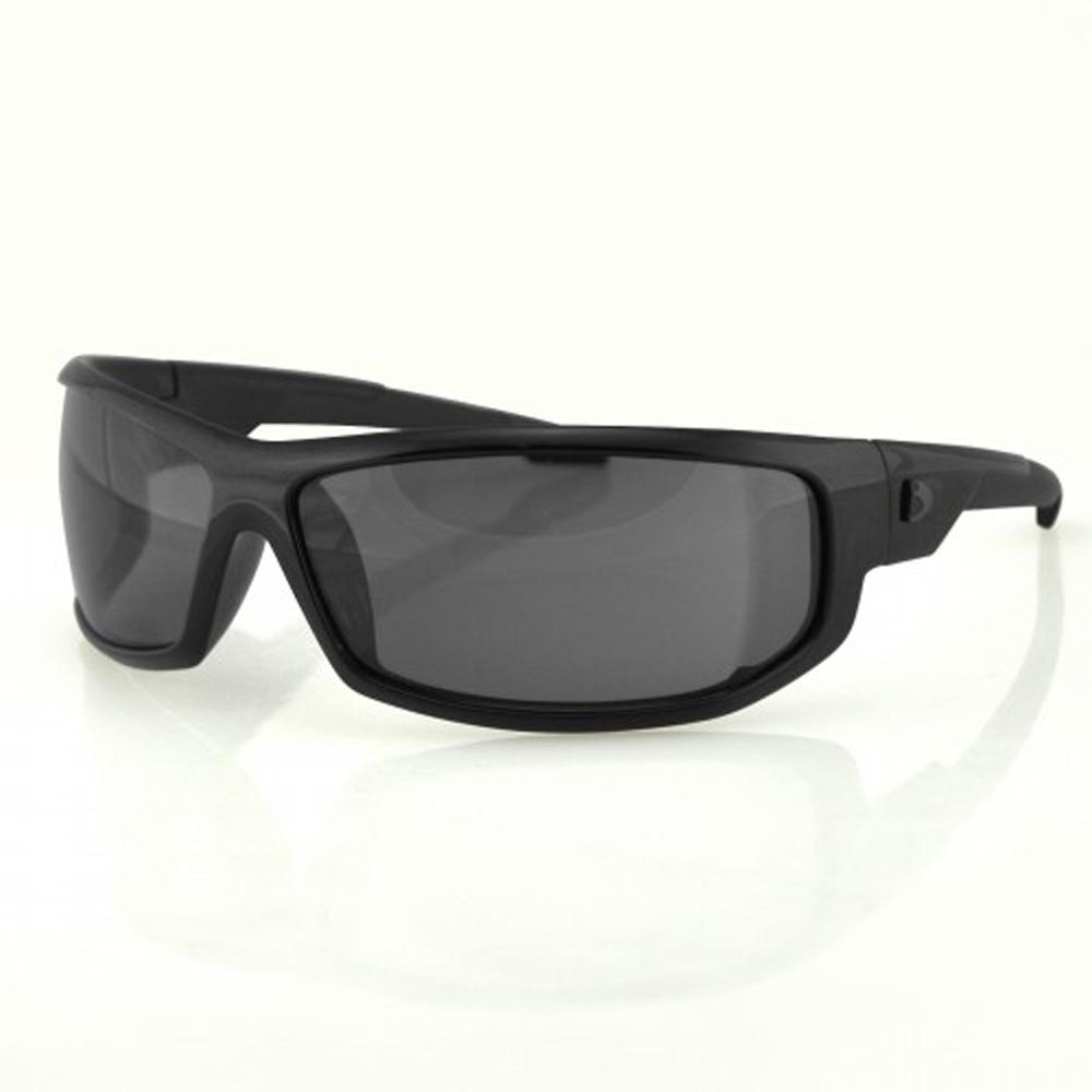 Bobster AXL Sunglasses (Black Frame, Anti-fog Smoked Lens)