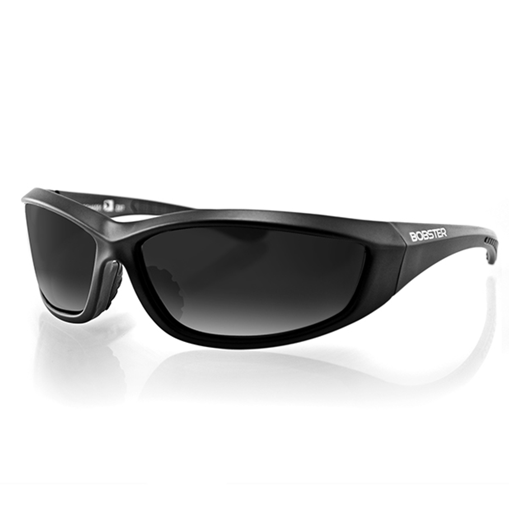 Bobster Charger Sunglasses (Black Frame, Anti-fog Smoke Lens, ANSI Z87)