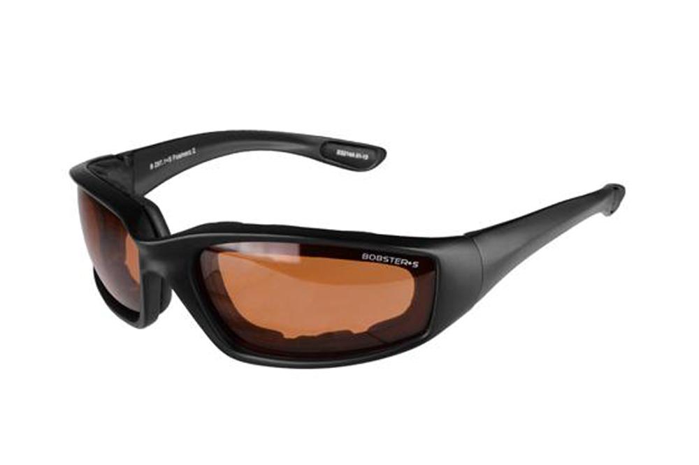 Bobster Foamerz 2 Sunglasses (Black Frame, Anti-fog Amber Lens, ANSI Z87)