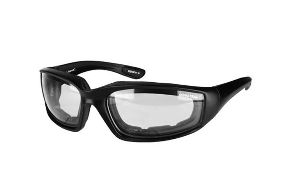 Bobster Foamerz 2 Sunglasses (Black Frame, Anti-fog Clear Lens, ANSI Z87)