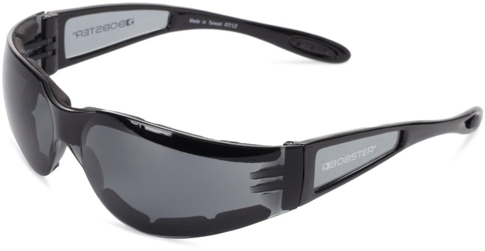 Bobster Shield II Sunglasses (Black Frame, Smoke Lens)