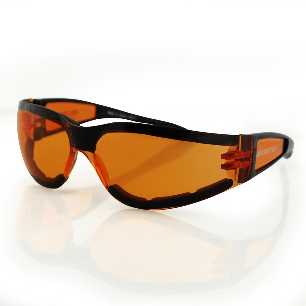 Bobster Shield II Sunglasses (Black Frame, Amber Lens)