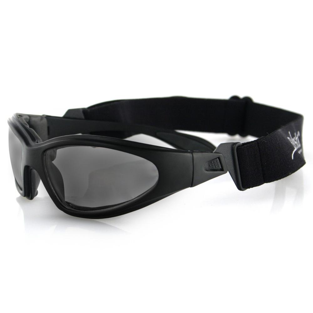 Bobster GXR Sunglasses (Black Frame, Anti-fog Smoke Lenses)