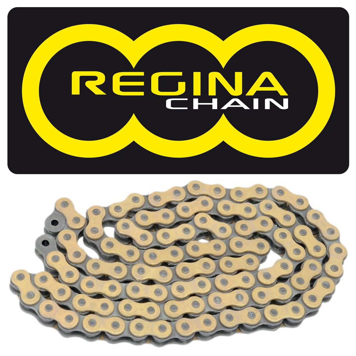Gold EK Motor Sport 525 ZVX3 Series ZX-Ring Chain Color: Gold Chain Length: 120 Chain Application: All 120 Links Chain Type: 525