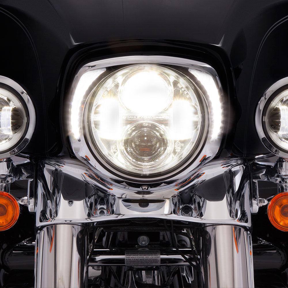 CIRO LED Fang Headlight Bezel w/ Running Lights (Chrome)