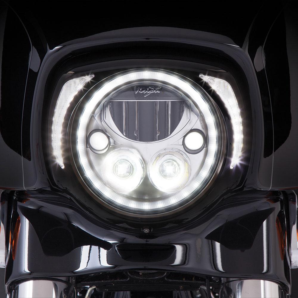 CIRO LED Fang Headlight Bezel w/ Running Lights (Black)