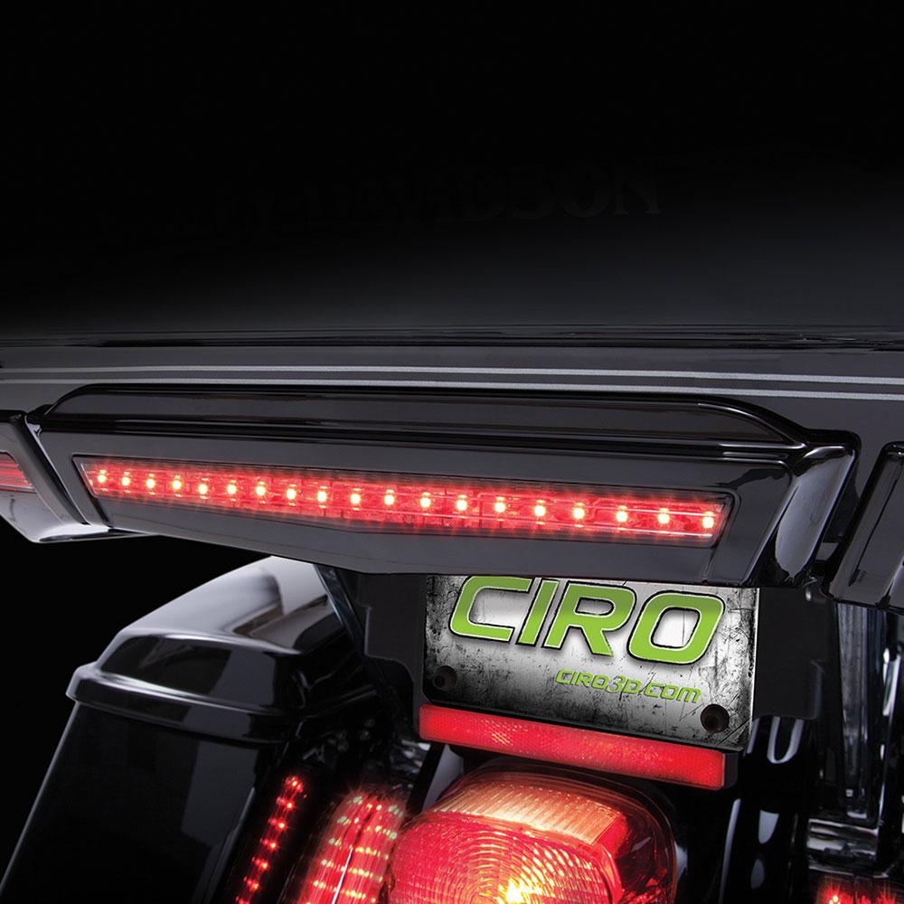 CIRO Center Run/Brake Light For Harley-Davidson Tour-Pak (Black)