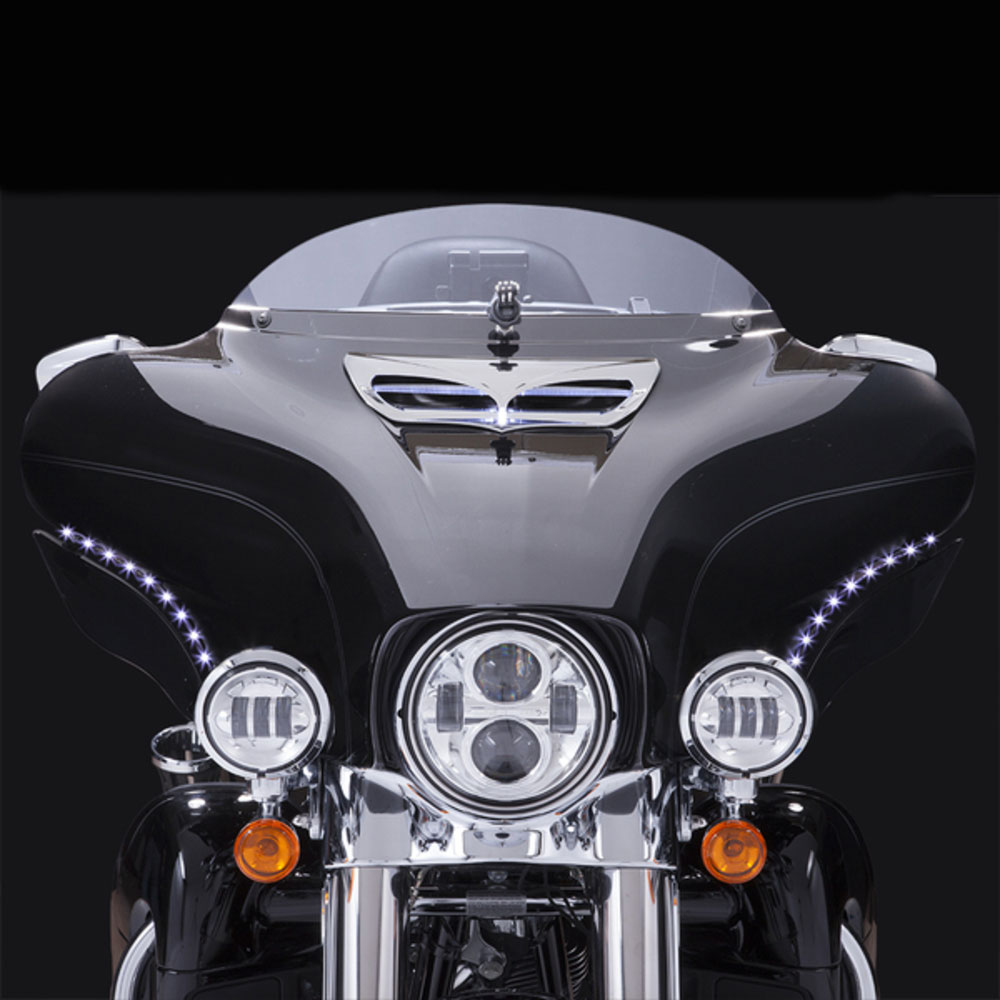 CIRO LED Bat Blades Running Lights/Turn Signals for 96-05 Harley-Davidson FLHT (45100)