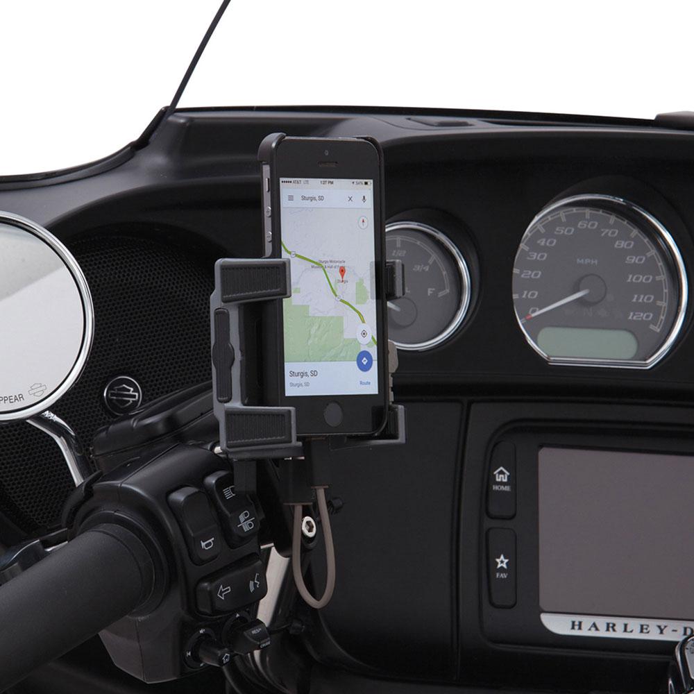 CIRO Smartphone/GPS Holder w/USB Port (Brake/Clutch Perch Mount)