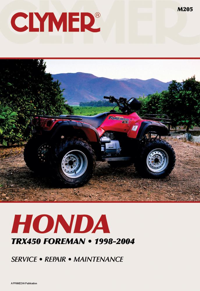 Clymer Repair Manual for Honda TRX450 Foreman 1998-2004
