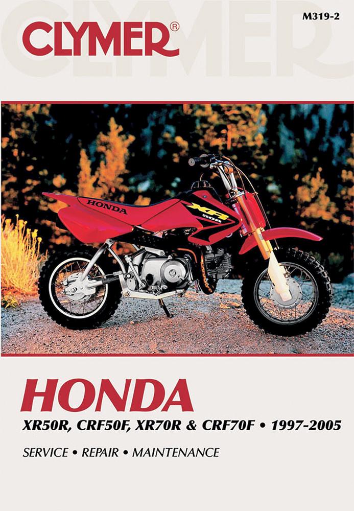 Clymer Repair Manual for Honda XR50R, CRF50F, XR70R and CRF70F 1997-2009