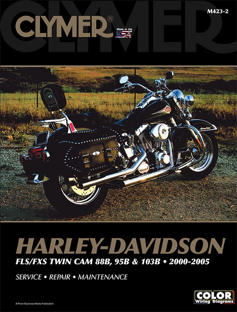 Clymer Repair Manual for Harley-Davidson FLS/FXS Twin Cam 88B, 95B, on