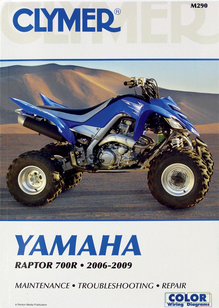 Clymer Repair Manual for Yamaha Raptor 700R 2006-2009