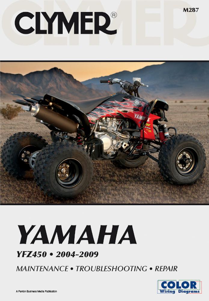 Clymer Repair Manual for Yamaha YFZ450 2004-2009