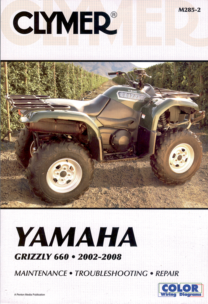 Clymer Repair Manual for Yamaha Grizzly 660 2002-2008