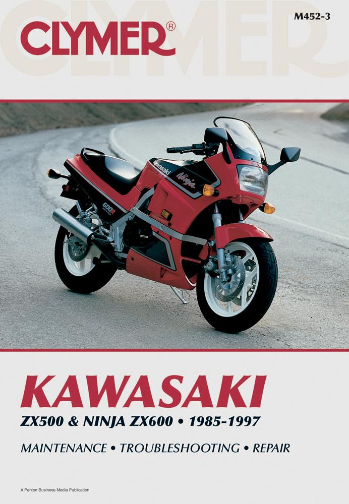 Clymer Repair Manual for Kawasaki ZX500 85-90, Ninja ZX600A 85-87, on