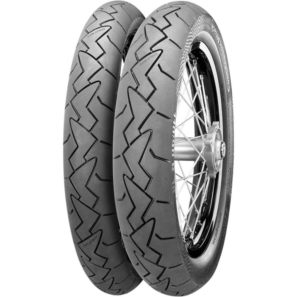 Continental Classic Attack Front Tire (Blackwall) 100/90R19 57V