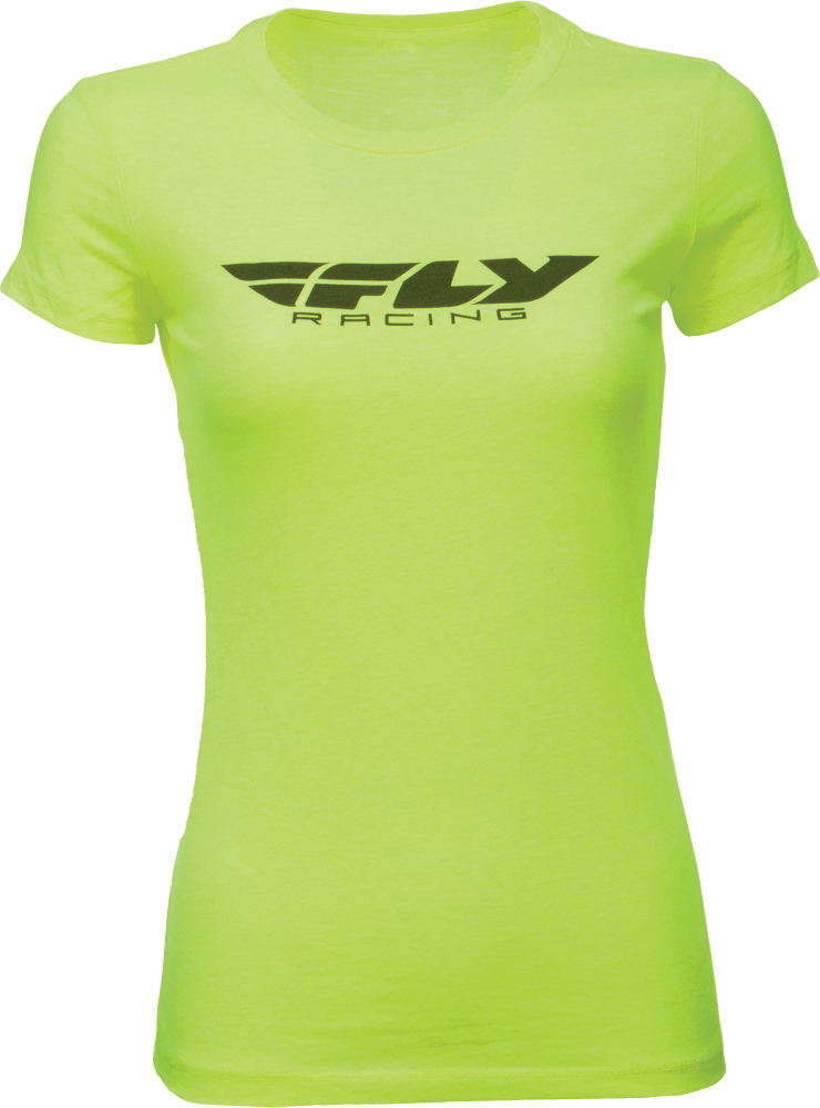 FLY RACING Offroad Womens CORPORATE Fashion Fit T-Shirt (Neon Yllw) Choose Size