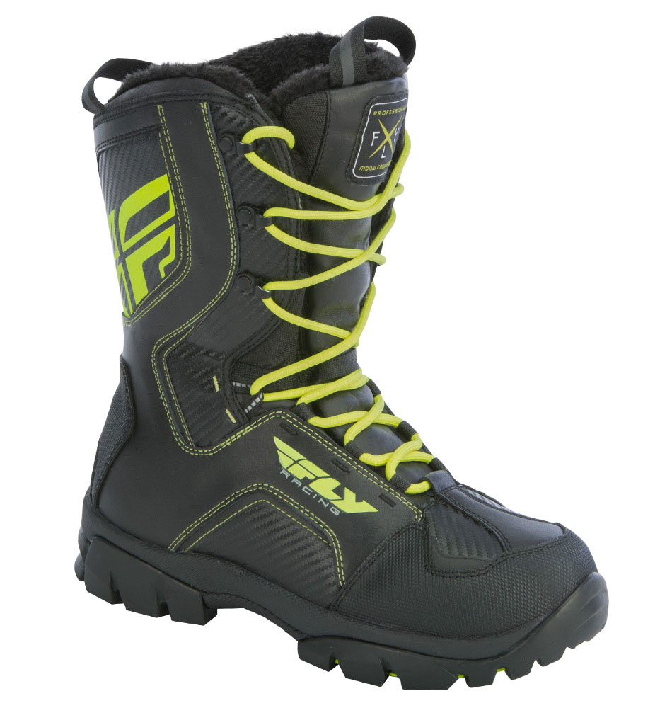FLY RACING Snow Snowmobile MARKER Boots (Black/Hi-Vis ...