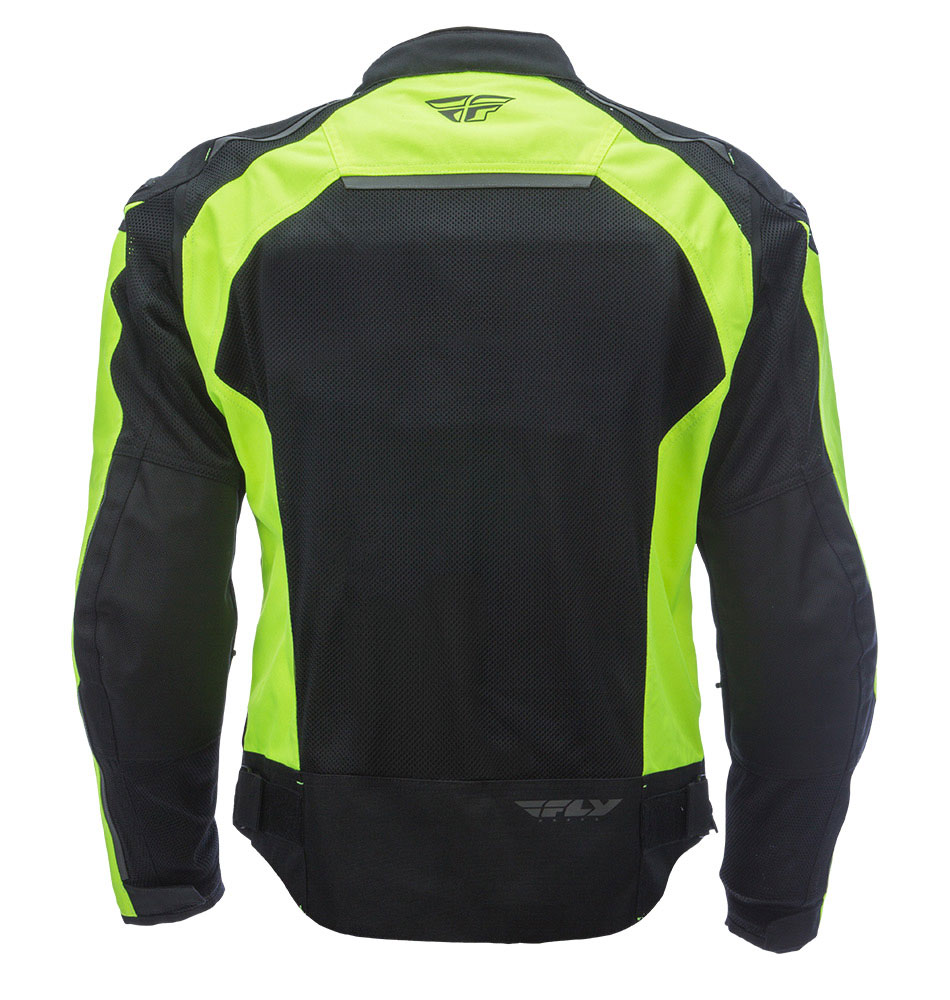 FLY STREET Coolpro Mesh Motorcycle Jacket (Hi-Vis/Black ...