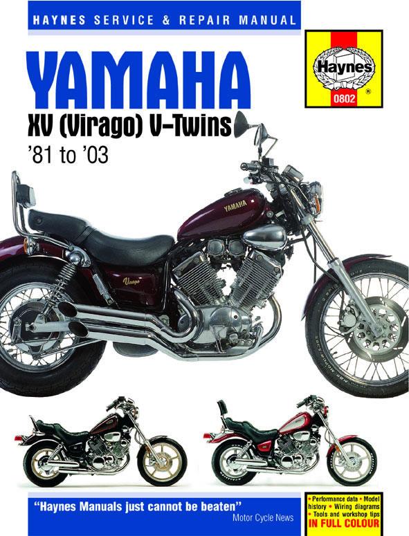 HAYNES Repair Manual - Yamaha Virago XV535 XV700 XV750 XV920 XV1000 on