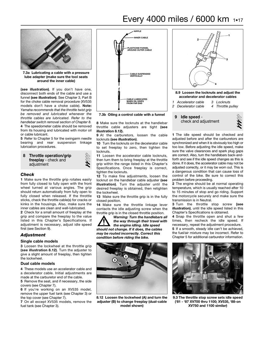 Haynes Repair Manual Yamaha Virago Xv535 Xv700 Xv750 Xv920 Xv1000 Wiring Diagram Quick View