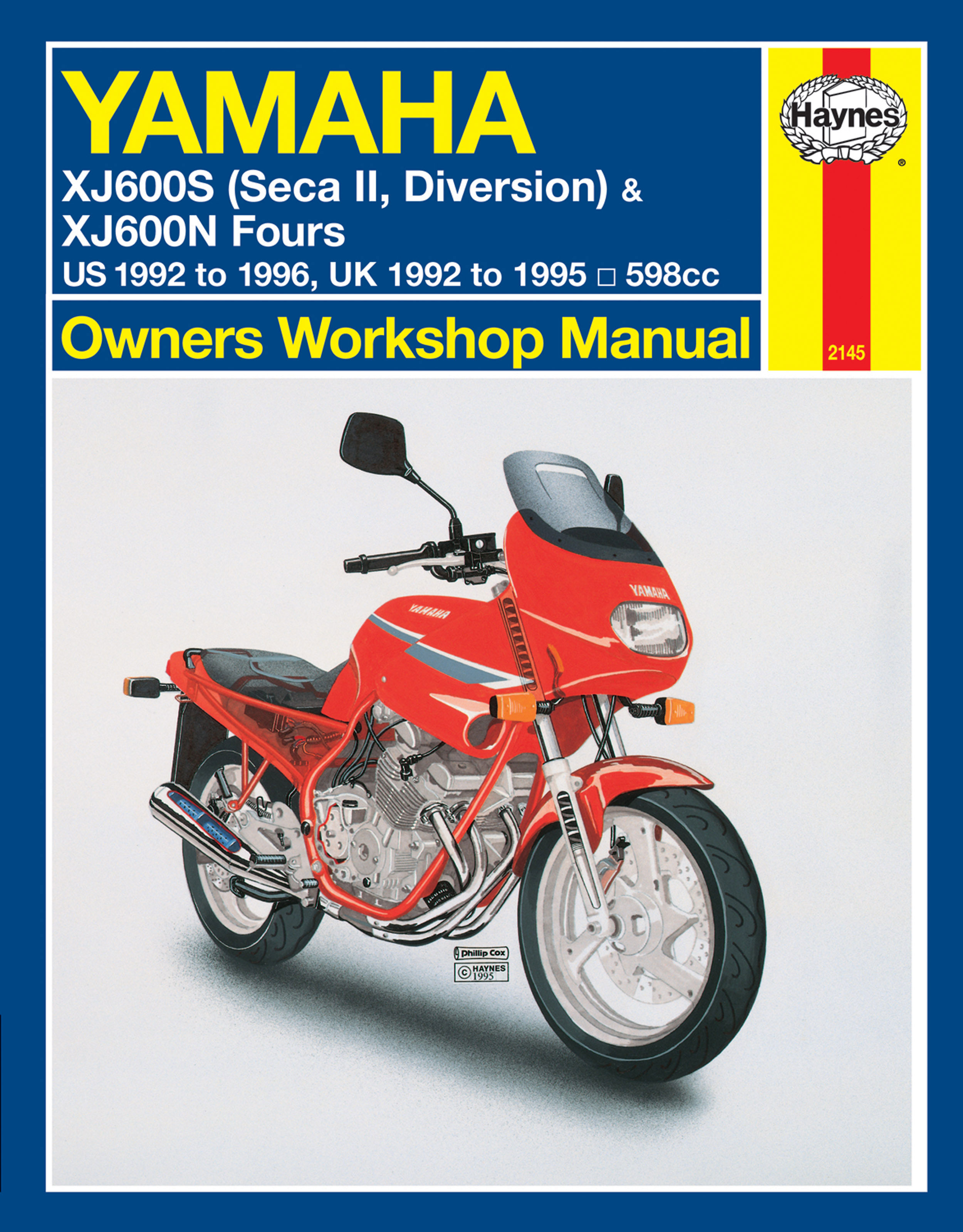 haynes repair manual yamaha xj600s diversion seca ii 92 03 rh ebay com Seca II Street Fighter 1998 Yamaha Seca II