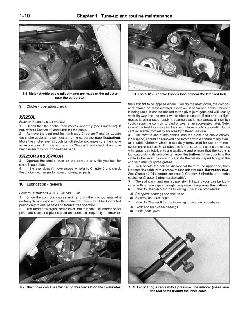 Xr250r Manual 97 Rt100 Carb Diagram Yamaha 2stroke Thumpertalk Array Haynes Repair Honda Xr250l 1991 96 1986 04 Rh Motorcycleworks Com