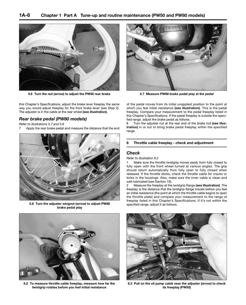 HAYNES Repair Manual - Yamaha Trail Bikes PW, RT, TT-R and XT225/350  (1981-2003)