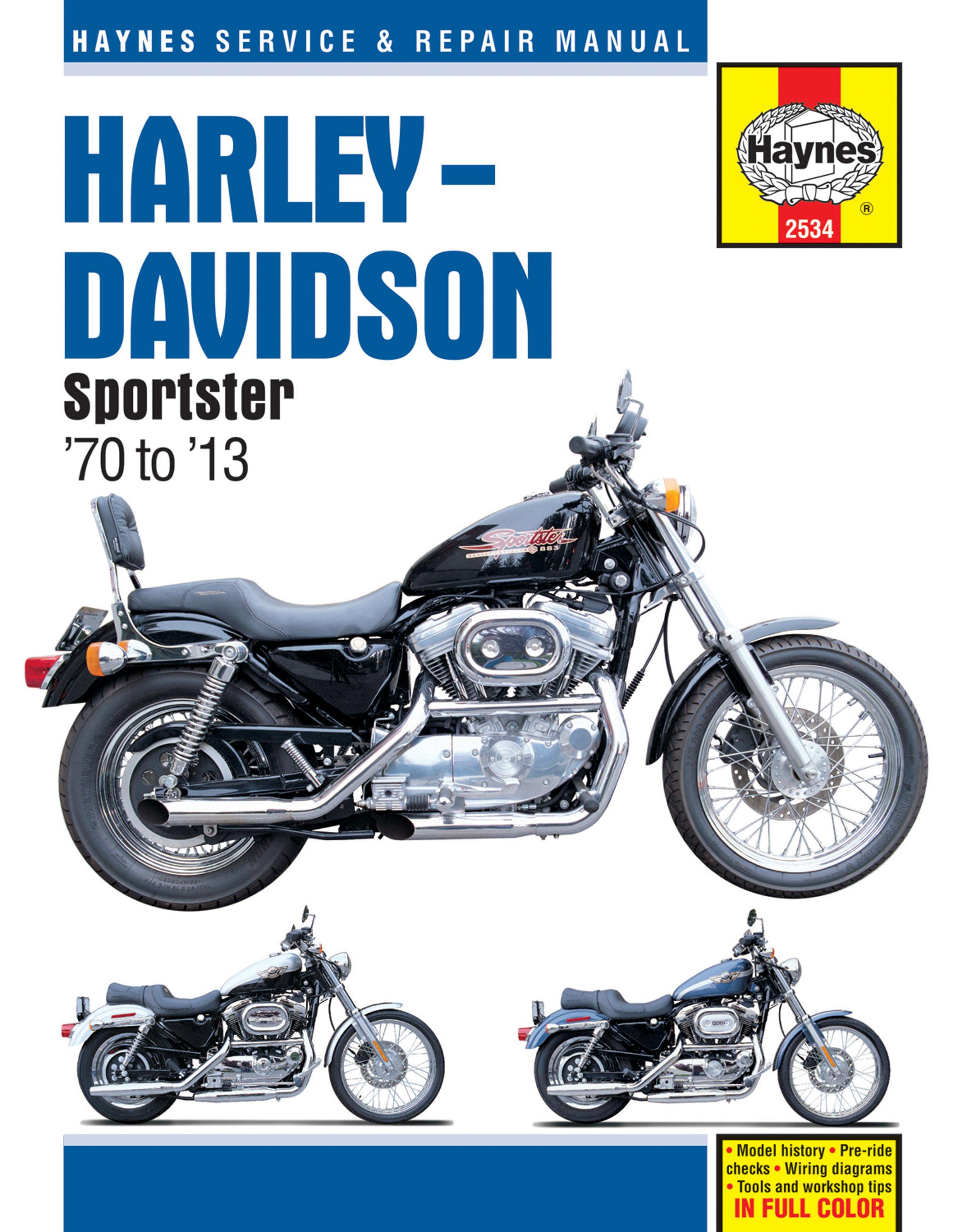 HAYNES Repair Manual - Harley-Davidson Sportster XL, XLH, XLCH, XLS, on