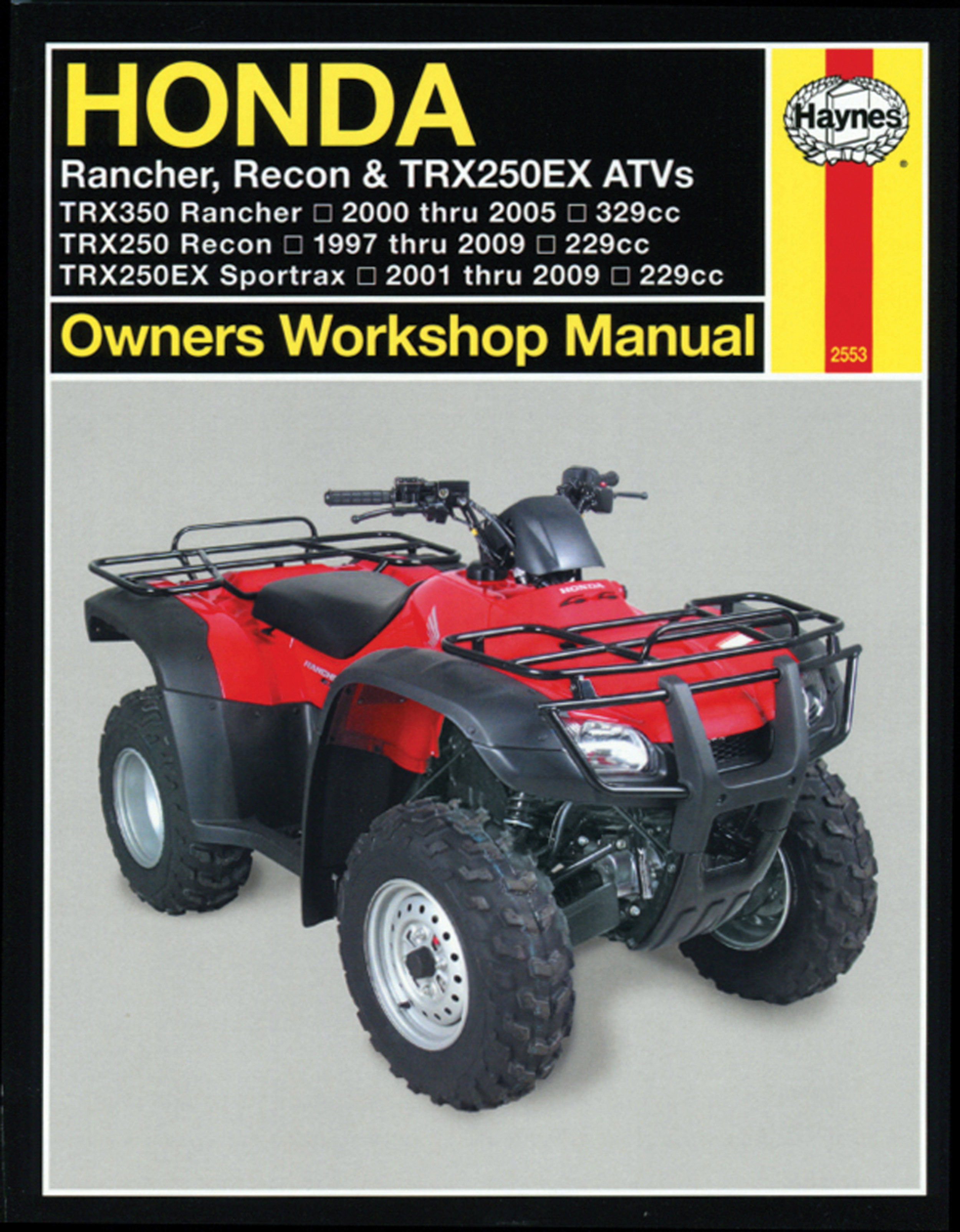 Honda 250ex Wiring Diagram About Haynes Repair Manual Trx250 Recon 1997 09 Trx250ex Trx400ex