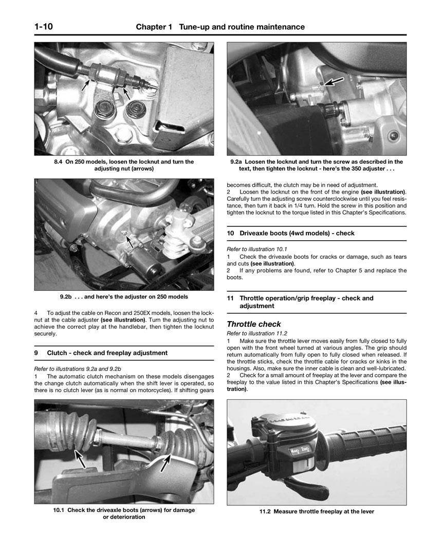 Haynes Repair Manual Honda Trx250 Recon 1997 09 Trx250ex 250ex Wiring Diagram Quick View