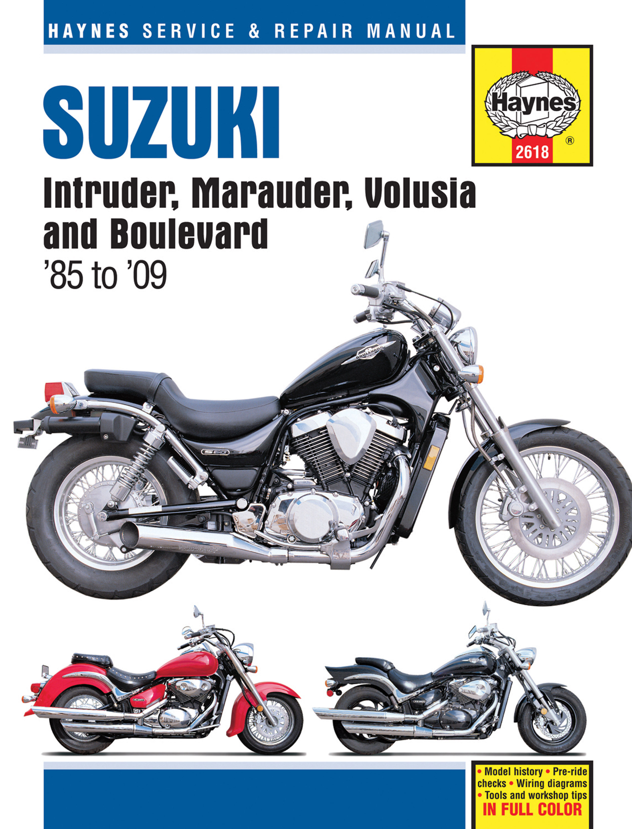 haynes repair manual suzuki vs700 vs750 vs800 intruder 1985 04 rh motorcycleworks com suzuki vs 750 service manual 1980 Suzuki GS 250 T Repair Manual