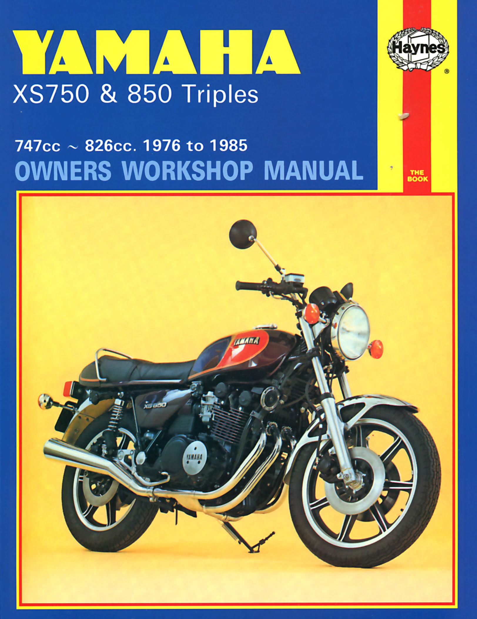 HAYNES Repair Manual - Yamaha XS750 and XS850 Triples (1976-1981)