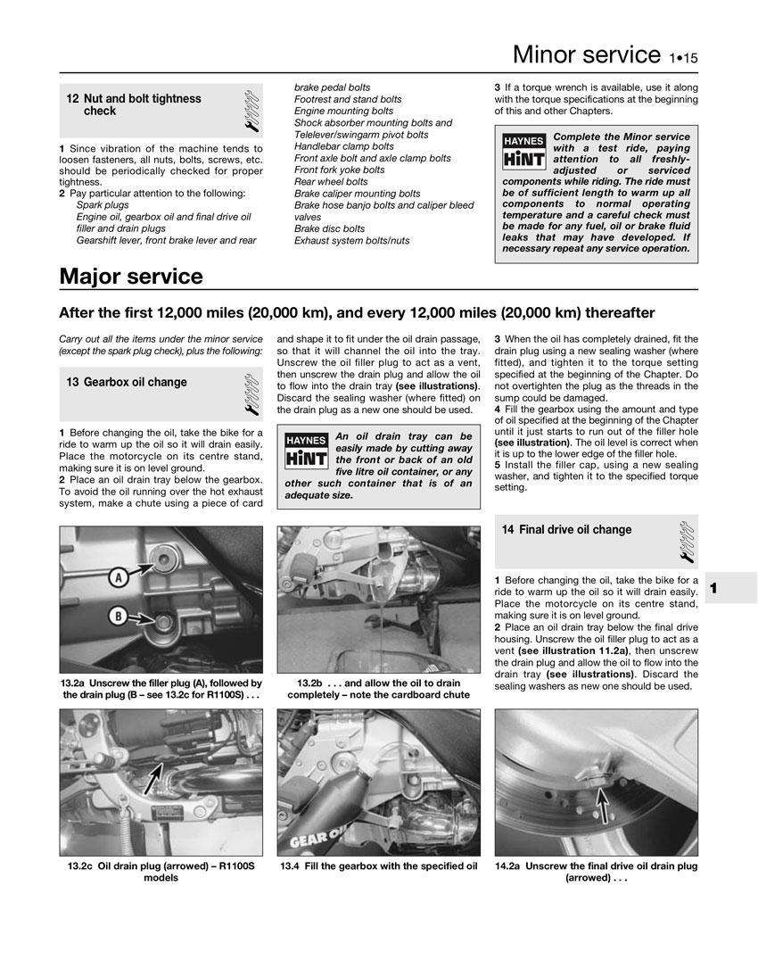BMW R 850 R 2005 Haynes Service Repair Manual 3466
