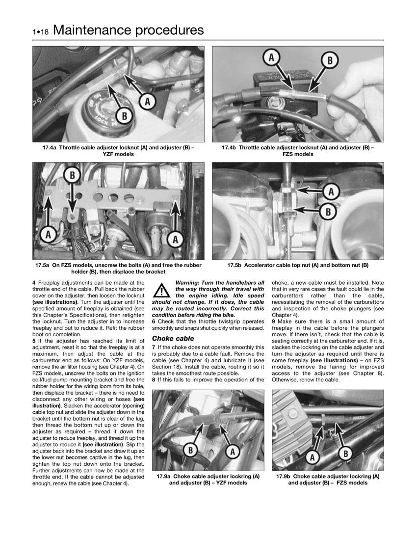 haynes repair manual yamaha yzf600r thundercat and fzs600 fazer rh motorcycleworks com Yamaha YZF600R Thundercat Cafe yamaha yzf600r thundercat owner's manual