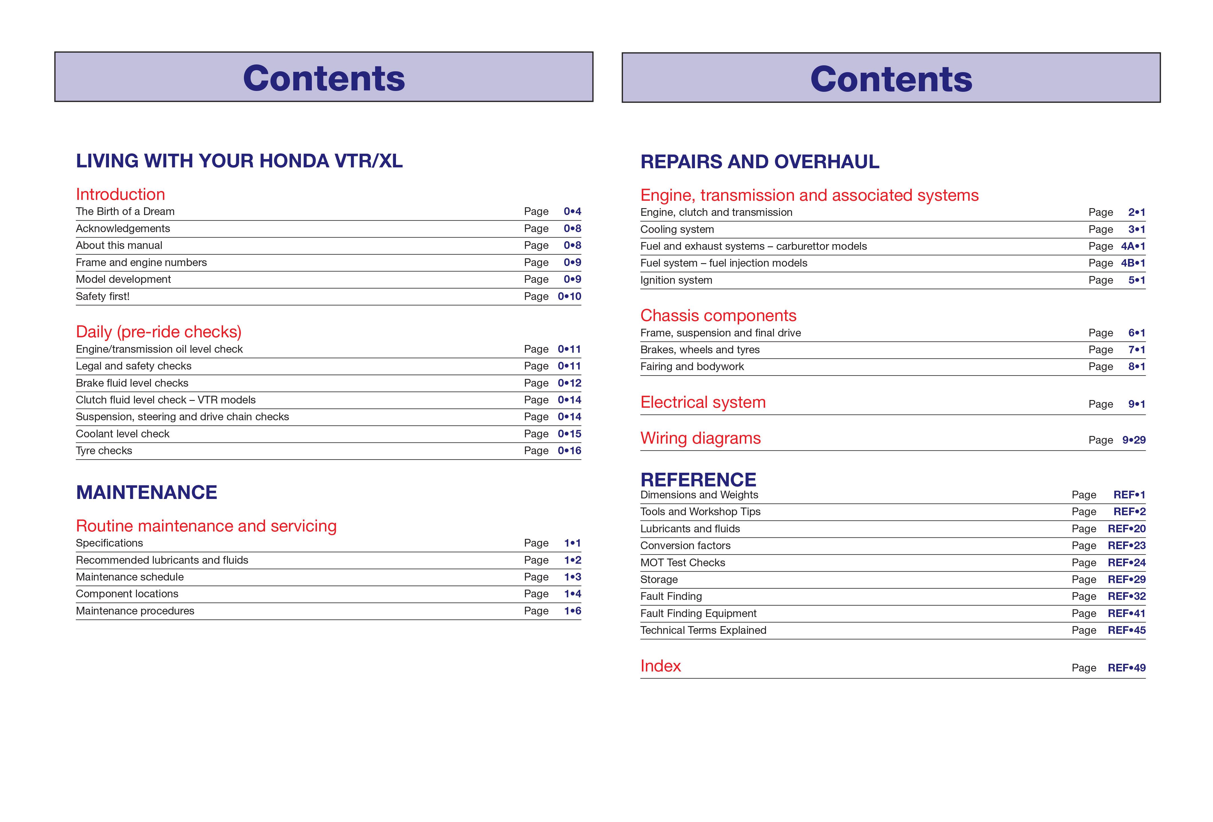 honda varadero 1999 service manual