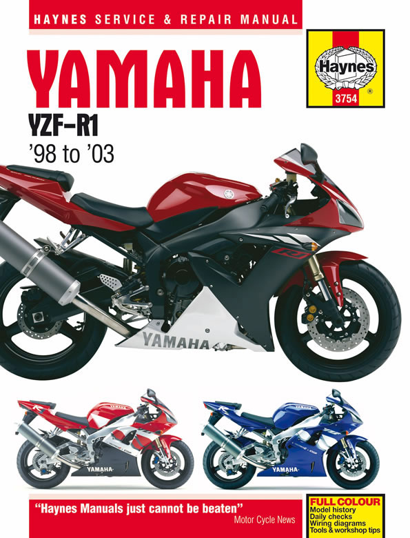 HAYNES Repair Manual - Yamaha YZF-R1 (1998-2003) on