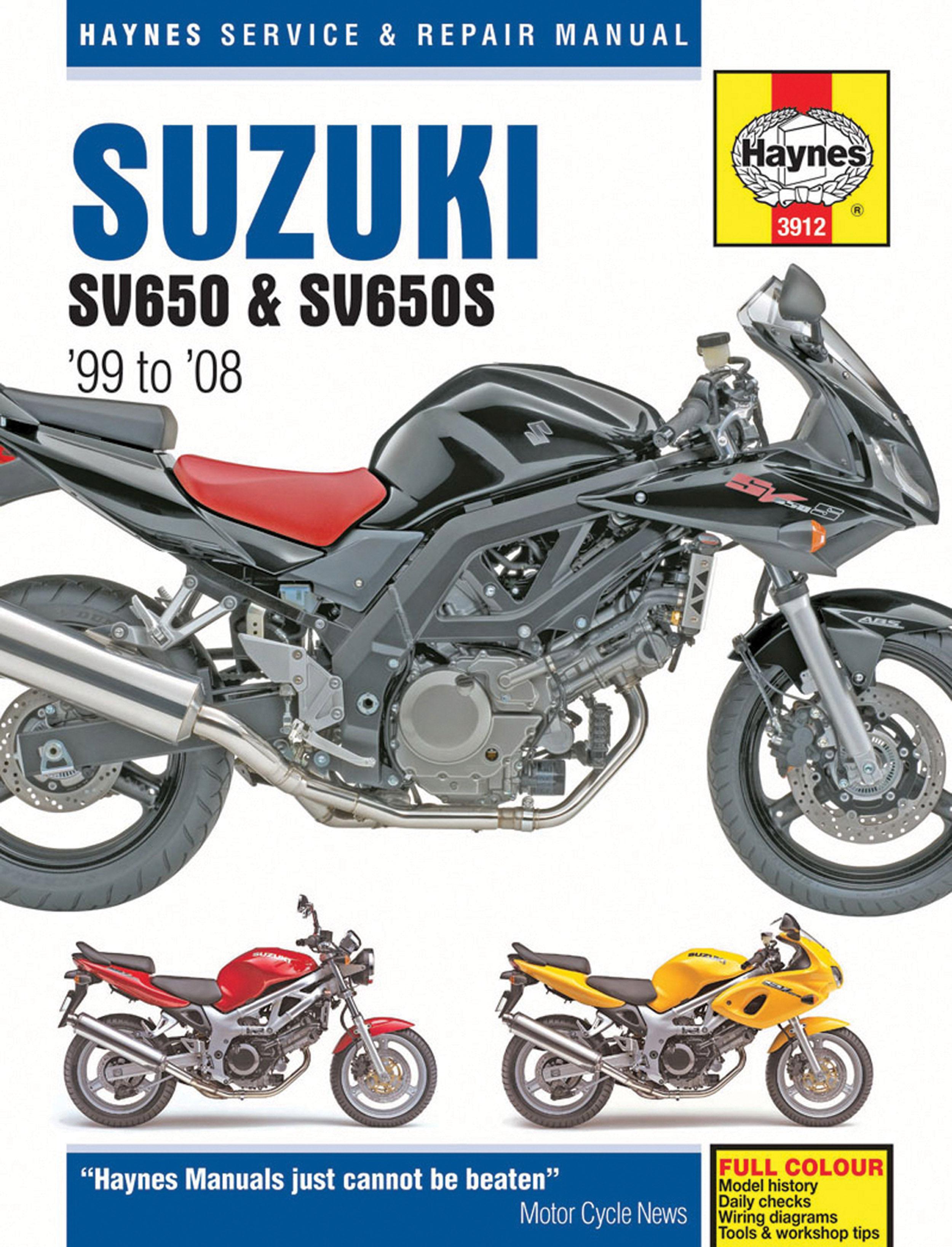 haynes repair manual suzuki sv650, sv650s, sv650sa, and sv650a (1999 2008) sv650 spark plug 2008 sv650 wiring diagram #15