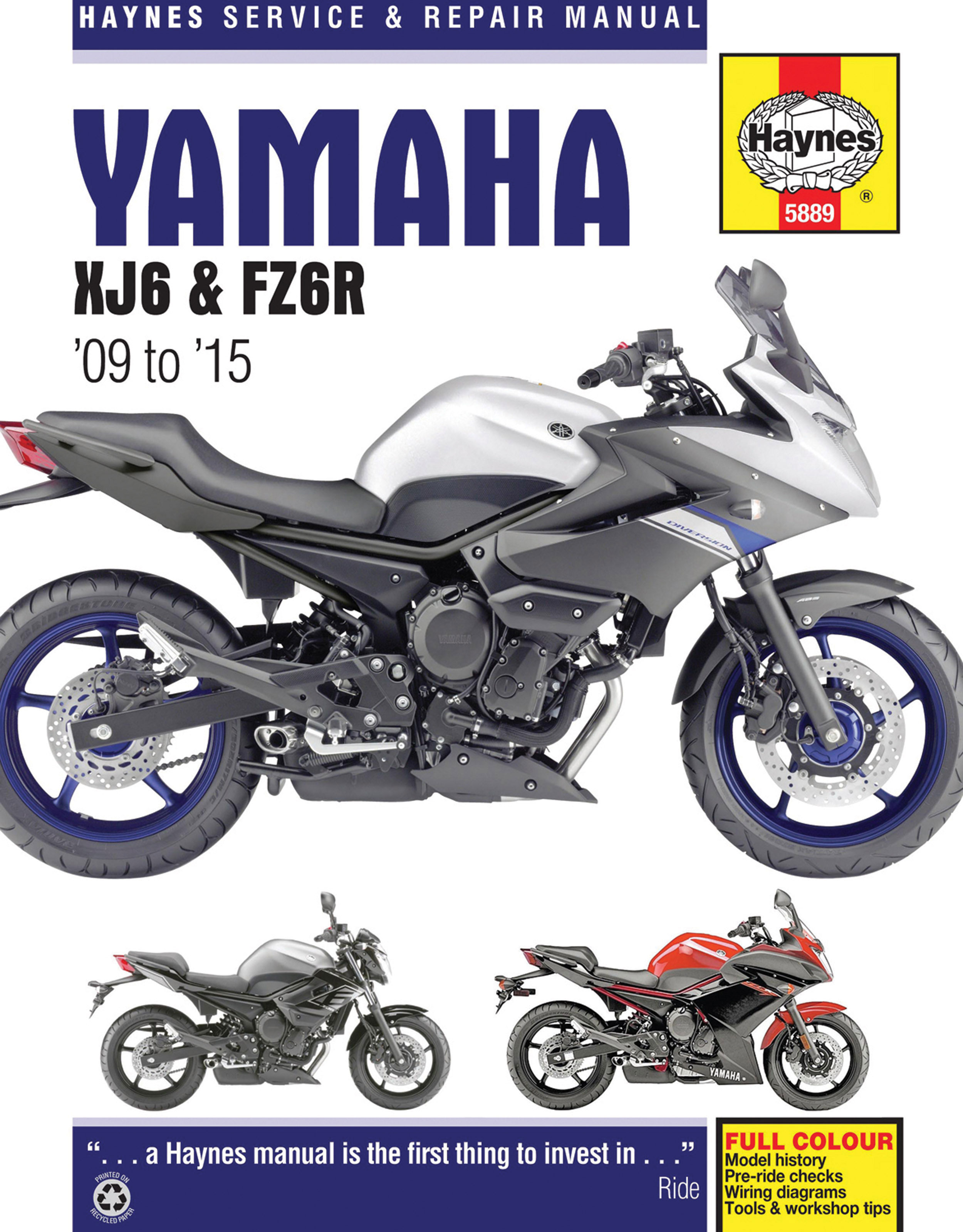 HAYNES Repair Manual - Yamaha XJ6 & FZ6R