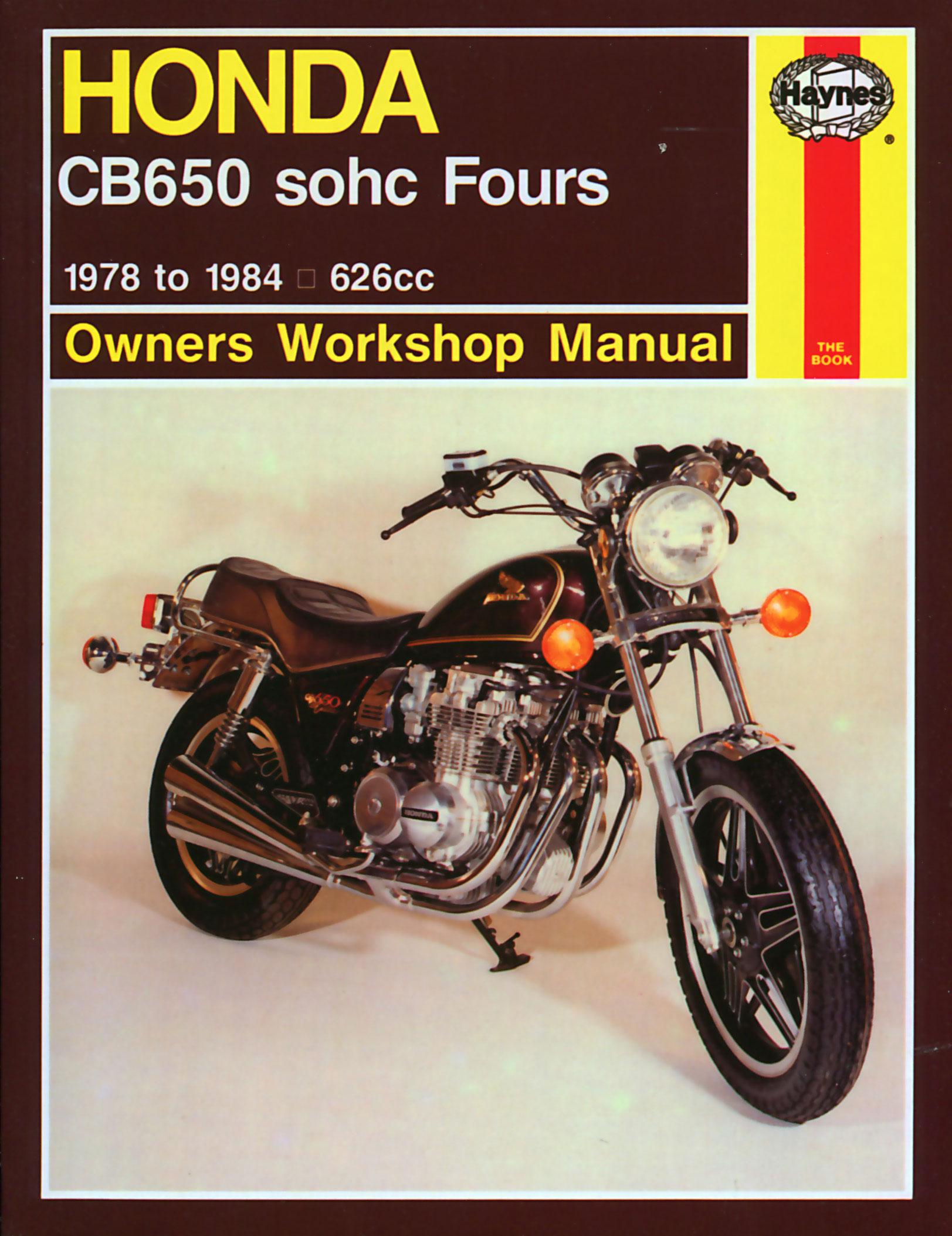 haynes repair manual honda cb650 sohc fours 1979 1982 rh motorcycleworks com 1980 Honda CB650 Custom 1980 Honda CB650 Cafe Racer
