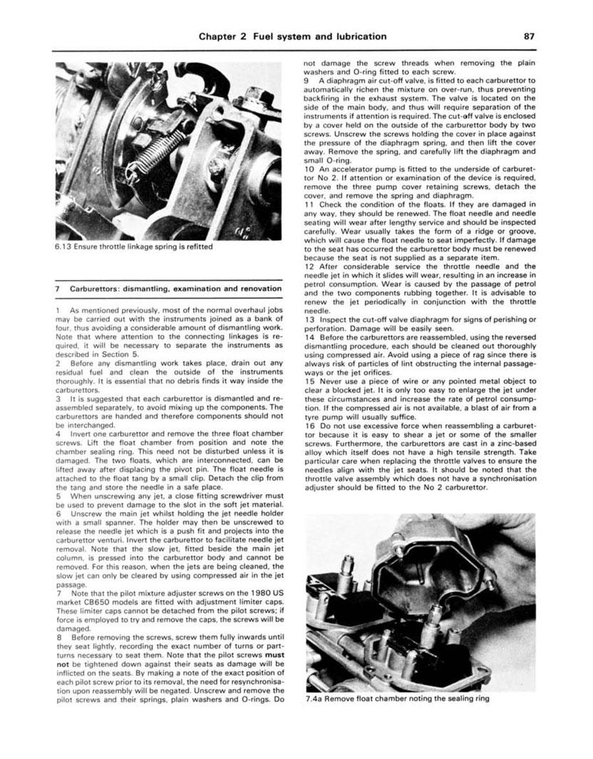 Other Motorcycle Parts 79-84 HAYNES Repair Manual Honda CB650 sohc ...