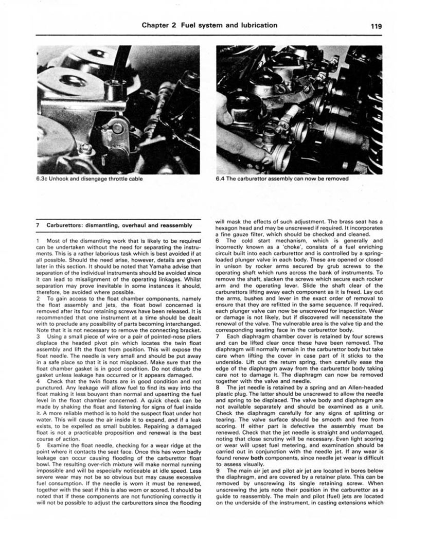 HAYNES Repair Manual - Yamaha XJ650 and XJ750 (1980-1984)