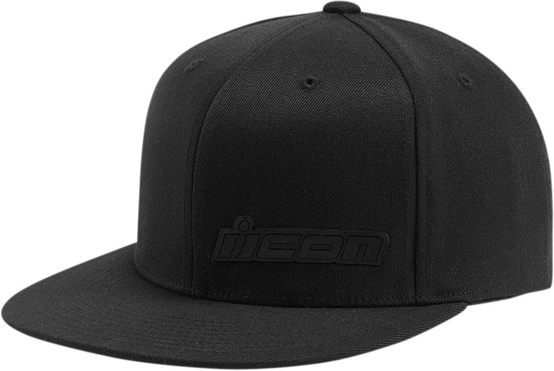 5cc2cc7e84a ICON Fused Flex-Fit Flat-Bill Hat Cap (Black)