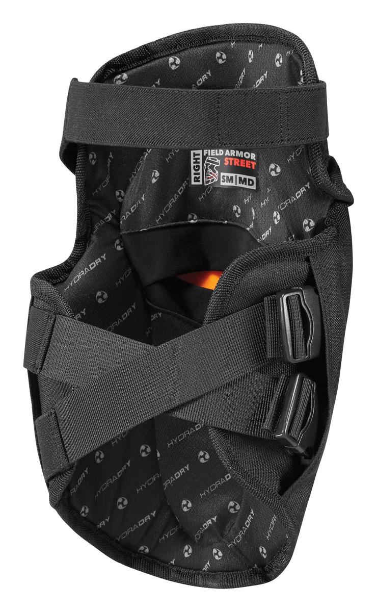 Black ICON Motosports Field Armor STREET KNEE Motorcycle Knee Guards SM-MD
