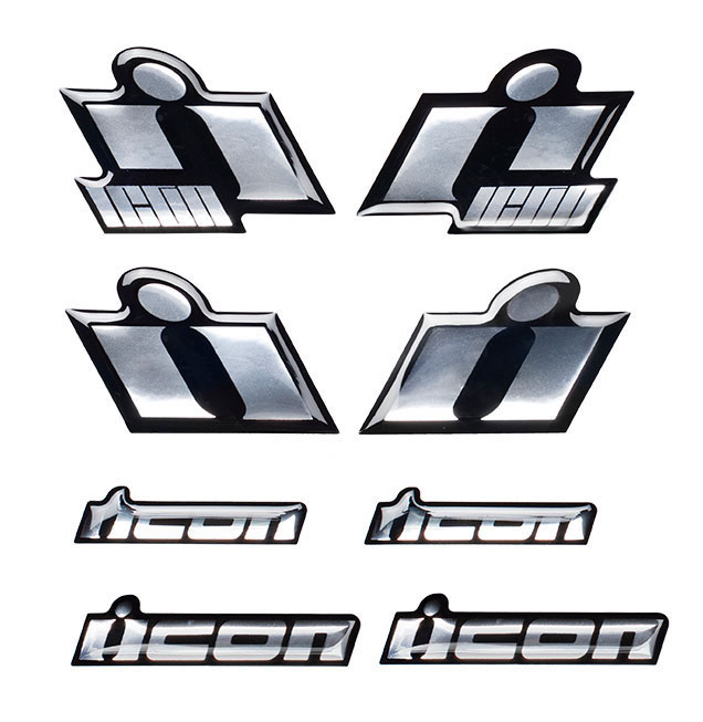 ICON 3D Chrome Decals/Stickers (Chrome)