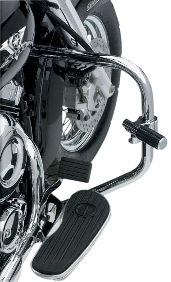 Chrome 1991-2016 H-D FXD w// mid-controls Lindby UNIBAR Front Highway Bars