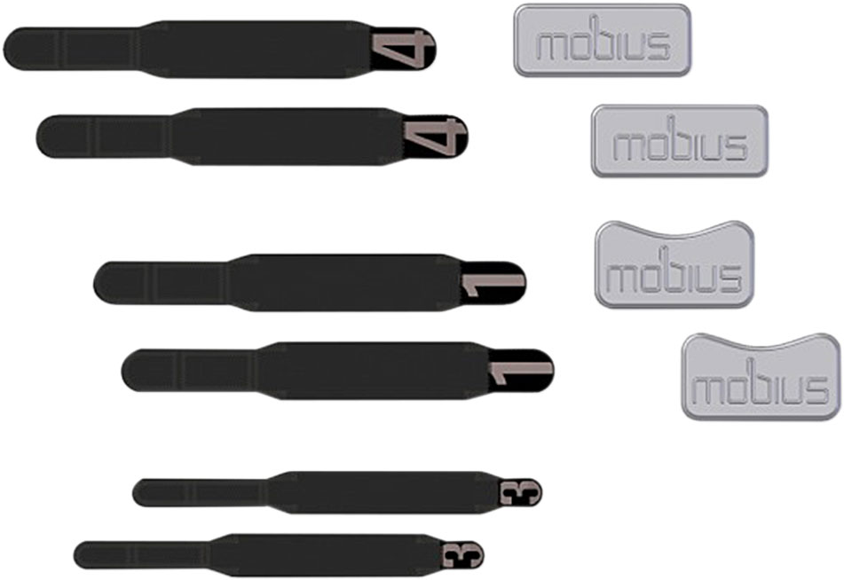 Black X-Small MOBIUS Knee Brace Replacement Strap Kit XS
